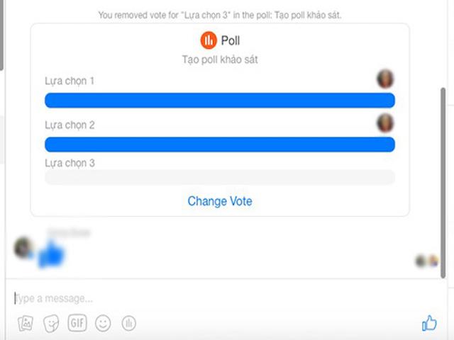Cách tạo khảo sát trong nhóm chat Facebook Messenger