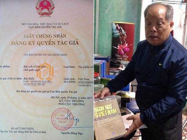 """Vì sao PGS Bùi Hiền được cấp bản quyền cải tiến """"tiếw Việt""""?"""