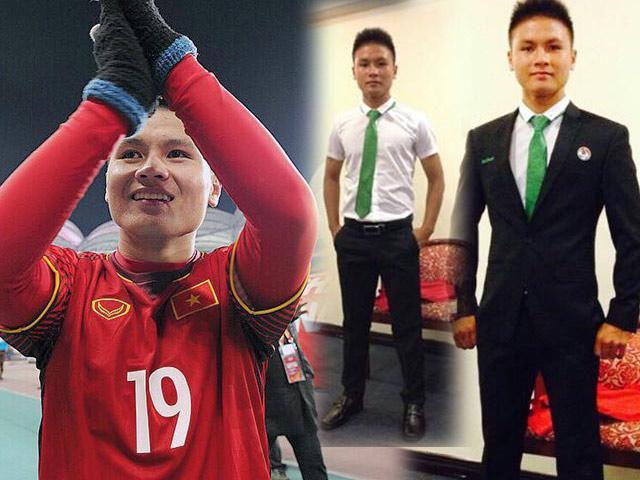 Người hùng U23 Việt Nam Nguyễn Quang Hải hiếm hoi diện vest quá bảnh