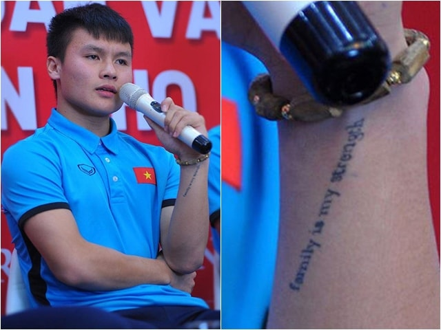 Ý nghĩa hình xăm trên cổ tay Quang Hải U23 Việt Nam