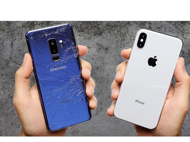 """Samsung Galaxy S9+ so """"độ cứng"""" với Apple iPhone X"""