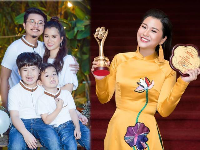 """Cuộc sống hạnh phúc của cô gái """"vượt mặt"""" Hoài Linh, Trấn Thành ẵm giải Mai Vàng 2018"""