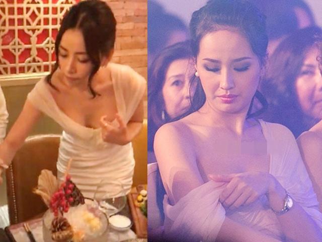 Váy áo rộng cổ, xẻ cao khiến Chi Pu, Mai Phương Thúy... bối rối