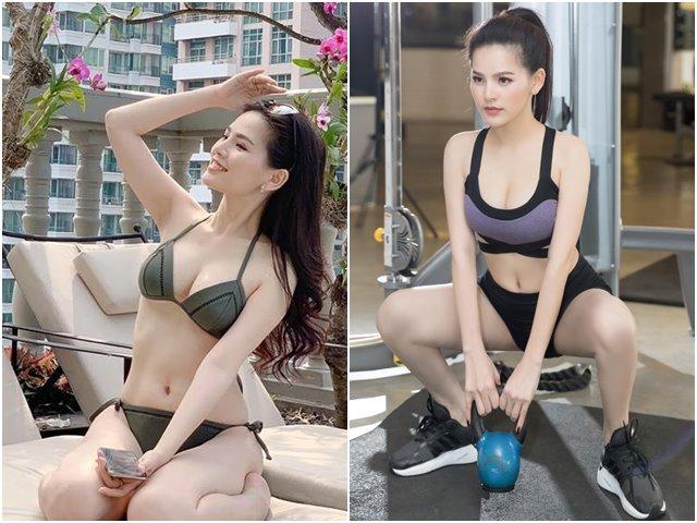 """""""Thánh nữ Mì Gõ"""" Phi Huyền Trang khoe thân hình nuột nà, trắng nõn với áo tắm"""