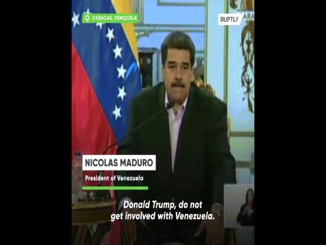 """Video: Tổng thống Venezuela tuyên bố """"rắn"""" với Trump bằng tiếng Anh"""