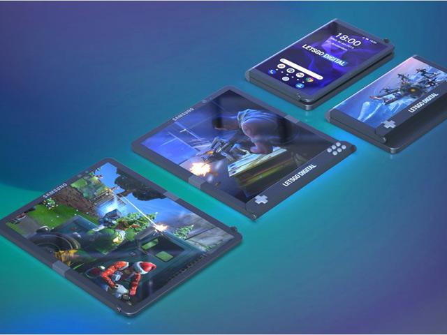 Samsung lộ bằng sáng chế smartphone chơi game có màn hình gập lại
