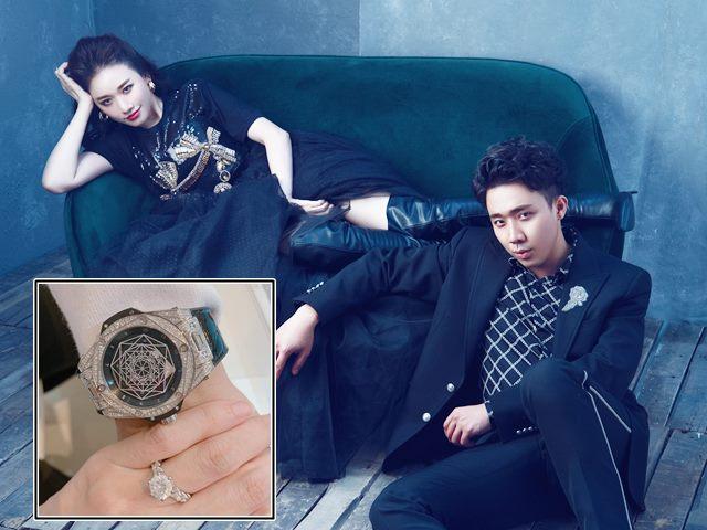 """Kỷ niệm cưới: Hari Won tặng Trấn Thành đồng hồ gần 1 tỷ để """"đeo suốt đời"""""""