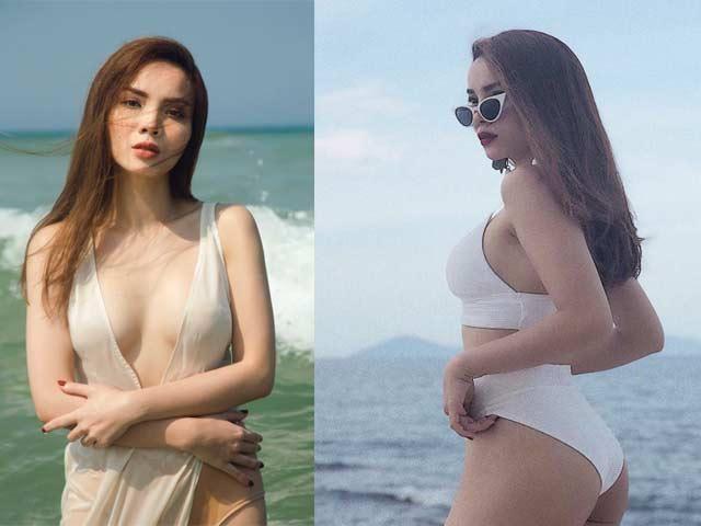 Giai nhân cũ của Cường Đô la khác người nhờ mặc bikini... đi bốt