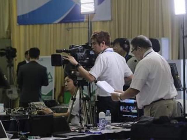 Sức nóng bên trong trung tâm báo chí trước giờ G thượng đỉnh Mỹ-Triều