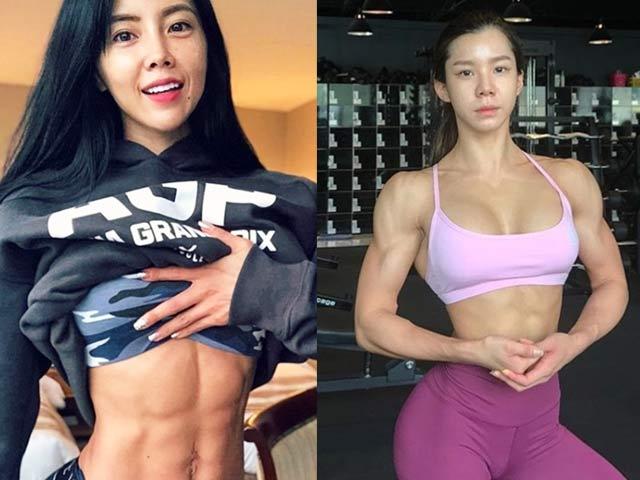 Khó ai xem thường nổi múi cơ của 3 hot girl phòng gym Hàn
