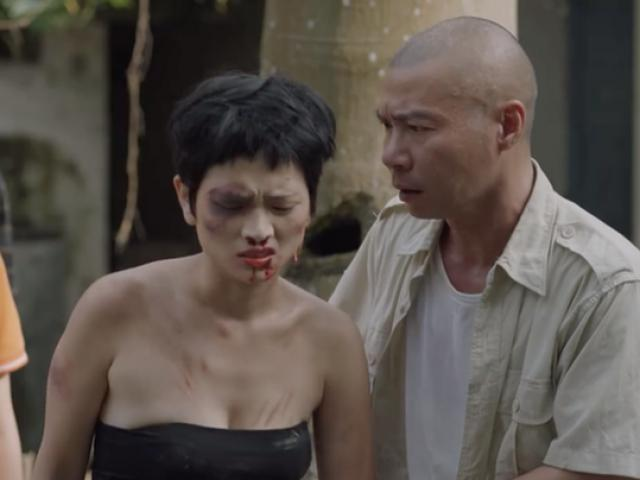 Công Lý xách dao mổ lợn đi trả thù xã hội đen thay em gái trong phim giờ vàng