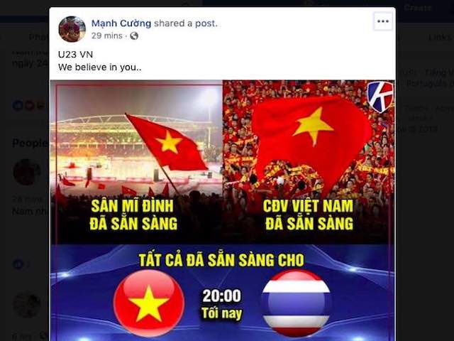 Dân mạng nghĩ gì trước giờ U23 Việt Nam đấu U23 Thái Lan?