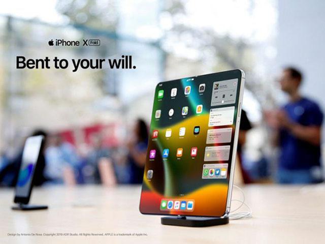 """Đây là chiếc iPhone X Fold đẹp """"nín thở"""", iFan đã sẵn sàng chưa?"""