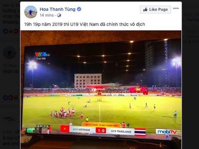 """Dân mạng lại """"phát sốt"""" khi U19 Việt Nam """"xử đẹp"""" U19 Thái Lan"""
