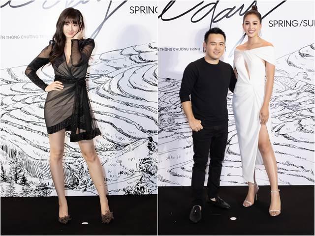 Tiểu Vy diện đầm xẻ cao, Hari Won mặc váy gây hiểu lầm tại thảm đỏ thời trang
