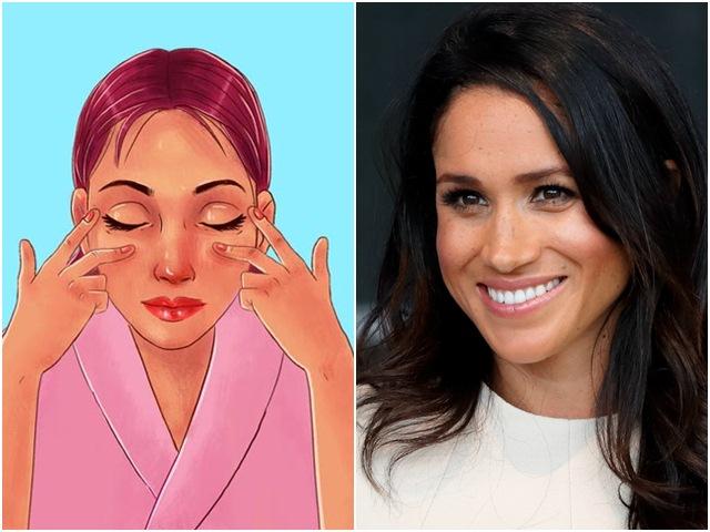 10 bài tập cơ mặt giúp Meghan Markle luôn trẻ trung