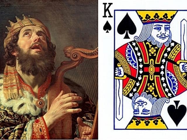 Quân K bích trong bộ bài Tây: Vị vua đi vào thần thoại, đánh bại gã khổng lồ Goliath