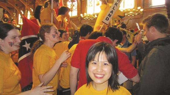 Tôn Hà Anh tại Đại học Harvard.