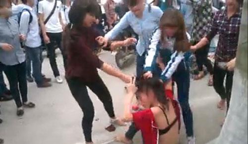 Một vụ học sinh đánh nhau ở Quảng Ninh - Ảnh: Tư liệu
