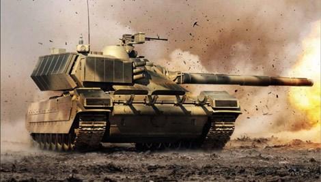 Phác họa xe tăng chiến đấu tương lai Armata.