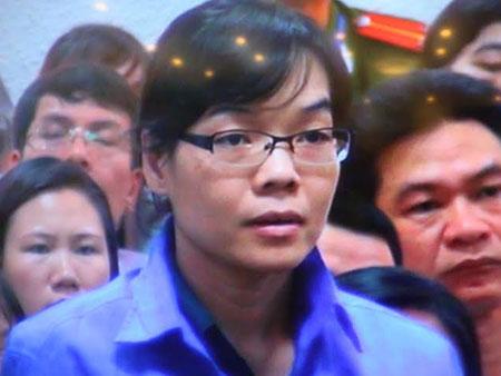 Huỳnh Thị Huyền Như tại phiên tòa sáng nay.