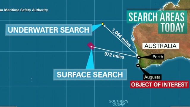 Phát hiện 1 vật thể nghi của MH370 ở Tây Australia