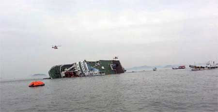 Chìm phà Sewol: Do phà chở quá nặng? (Ảnh minh họa)