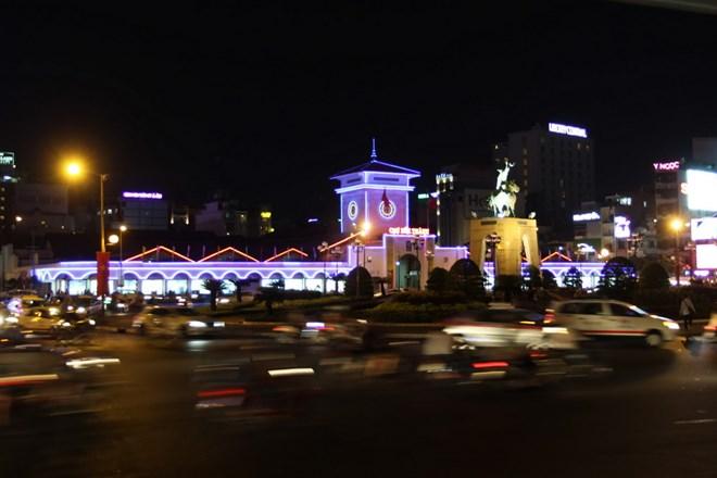 Chợ Bến Thành. (Ảnh: Thanh Vũ/TTXVN)