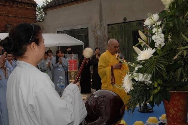 Quang cảnh buổi lễ tại chùa Từ Ân- Berlin. (Ảnh: Thanh Hải/Vietnam+)