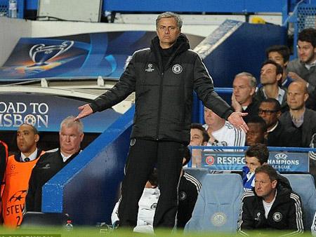 Mourinho rất thất vọng về trận đấu.