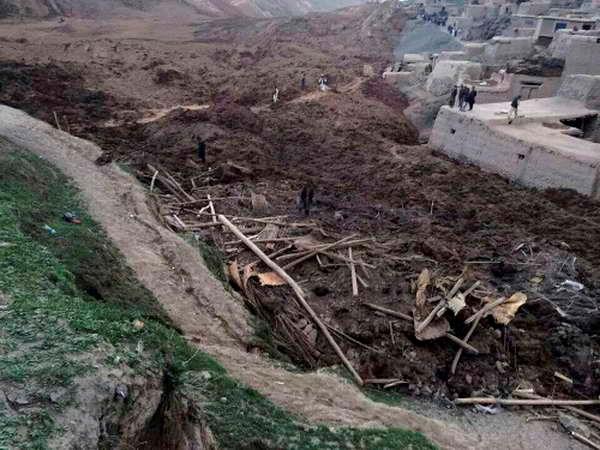 Hiện trường vụ lở đất. (Ảnh: AFP)