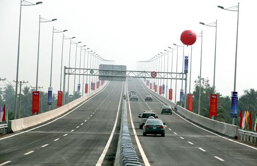 20km cao tốc TP HCM - Long Thành - Dầu Giây vừa được thông xe vào đầu năm nay. Ảnh: VNE