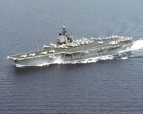 Tàu sân bay USS Saratoga.