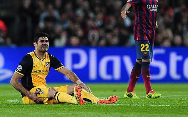 Diego Costa tiêm thuốc giảm đau để ra sân
