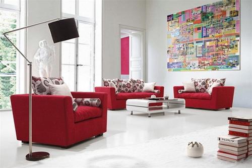 Màu đỏ được coi là đem tới may mắn và đem lại cảm giác tươi vui. Ảnh: Homestore.