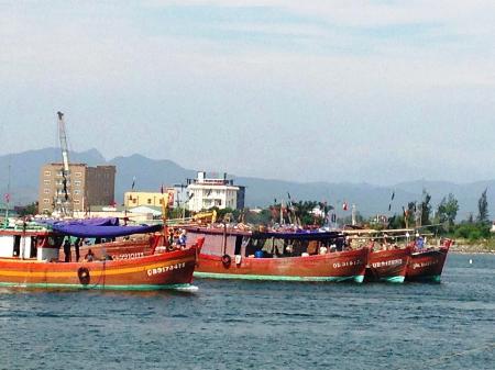 Đoàn tàu cá của ngư dân xã Bảo Ninh, TP Đồng Hới trong một lần ra khơi (Ảnh minh hoạ, nguồn: Dân trí)