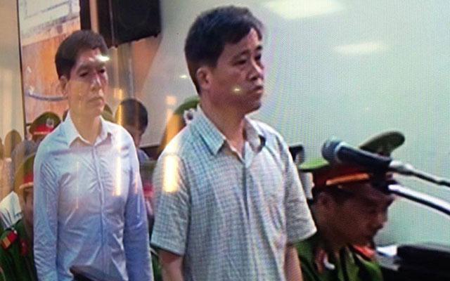 Bị cáo Vũ Tiến Sơn khai tại tòa.