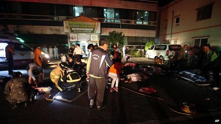 Hiện trường vụ cháy ở bệnh viện Hyosanrang