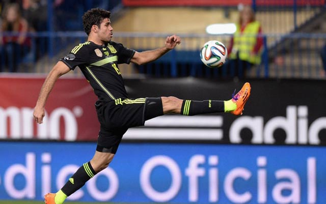Dù đang dưỡng thương, Diego Costa vẫn có tên trong danh sách  dự World Cup của đội tuyển Tây Ban Nha.
