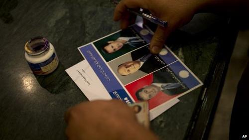 Cử tri Syria đứng trước 3 lựa chọn trong cuộc bẩu cử Tổng thống ngày 3/6 (Ảnh: AP/VOV)