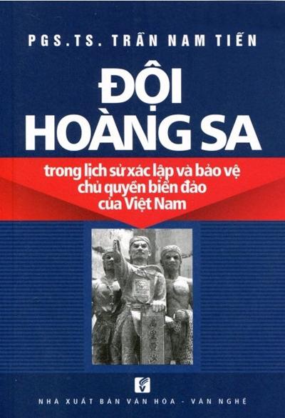 """Bìa cuốn sách """"Đội Hoàng Sa trong lịch sử xác lập và bảo vệ chủ quyền biển đảo Việt Nam"""""""