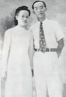 Giáo sư Trần Văn Khê và vợ - 1949