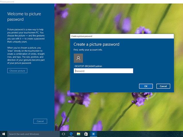 Cách thiết lập mật khẩu bằng hình ảnh cho Windows 10
