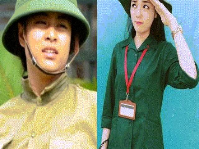 Bóc mẽ nhan sắc Hoàng Thùy Linh, Kỳ Duyên thời sinh viên học quân sự