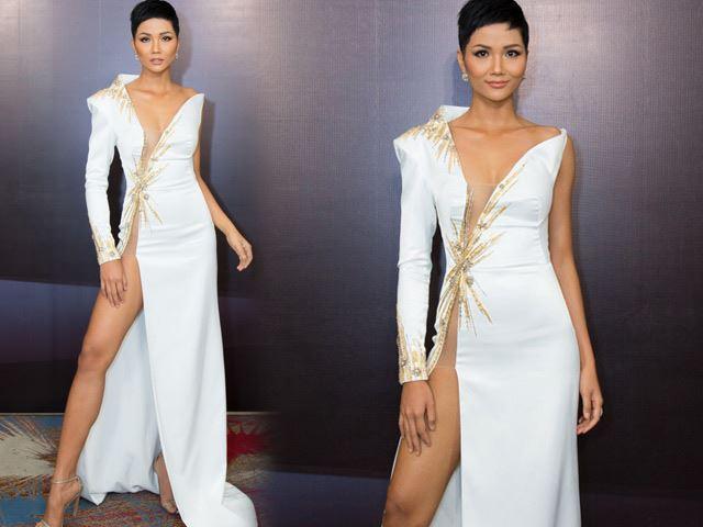 Hoa hậu H'Hen Niê diện váy hở xương hông