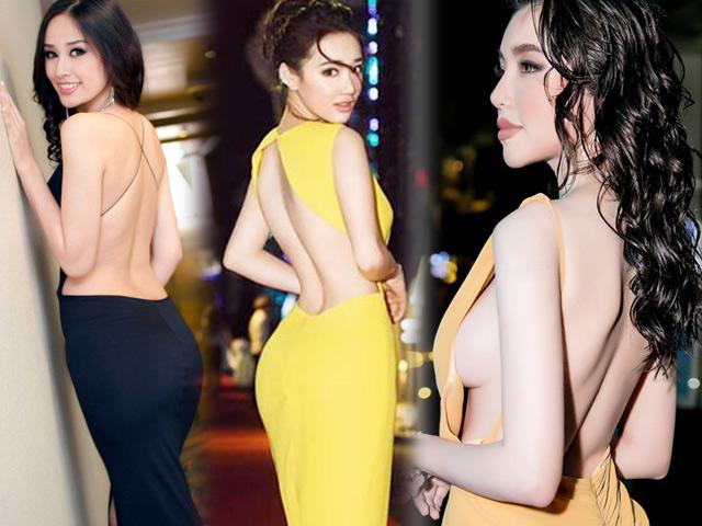 Lưng trần nuột nà của Nhã Phương, Mai Phương Thúy, Elly Trần