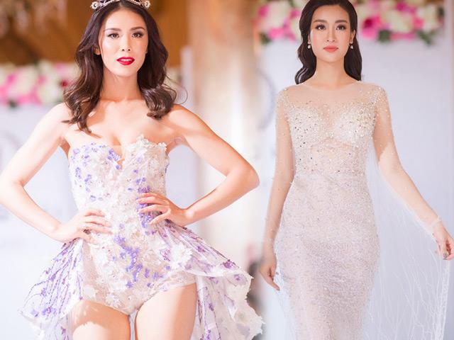 Hoa hậu Hoàn vũ đẹp lấn át Đỗ Mỹ Linh trên sàn diễn thời trang