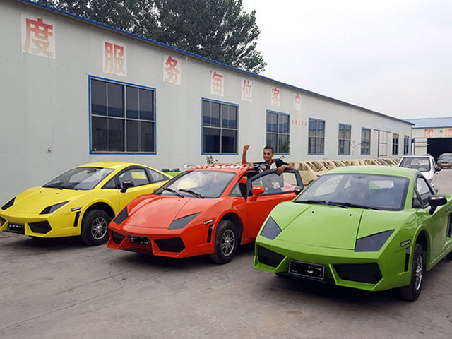 "Bugatti Chiron, Lamborghini, Audi ""nhái"" giá rẻ chỉ 100 triệu đồng."