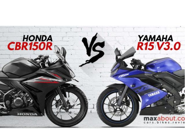 """Yamaha R15 V3.0 """"đối đầu"""" với Honda CBR150R 2018: Nên chọn xe nào?"""