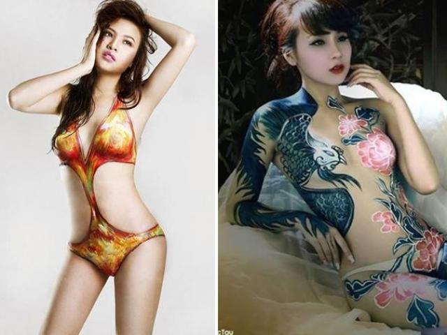 Bạn gái Cường Đô La, Lê Kiều Như sẵn sàng nude vẽ body painting